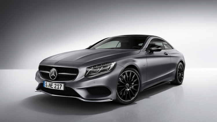 Mercedes-Benz S-Class Coupe Night Edition is a black-accented beauty
