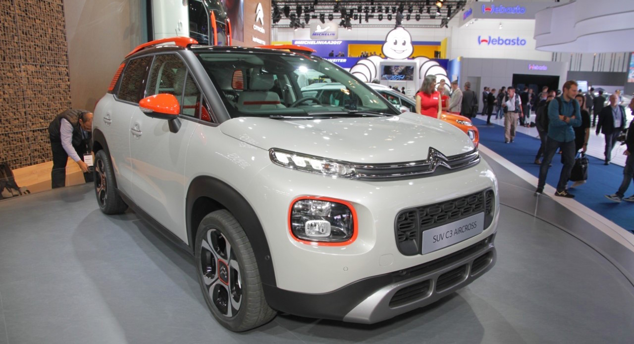 Citroen C3 Aircross showcased at the 2017 Frankfurt Motor Show