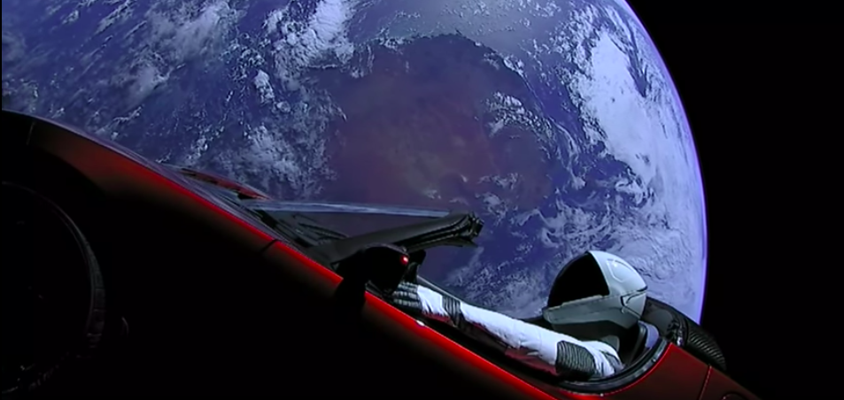Watch the SpaceX Tesla Roadster exploring space in this livecam