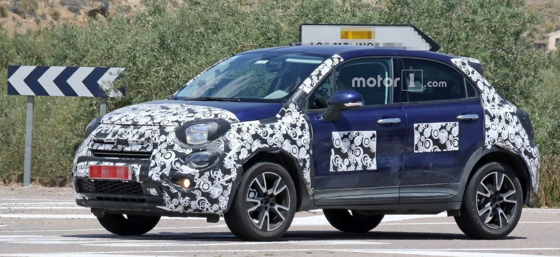 Fiat 500X Caught Hiding Minor Facelift Underneath Funky Camo