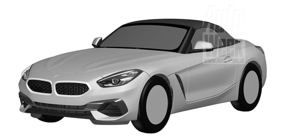 2019 BMW Z4 roadster patent images leaked