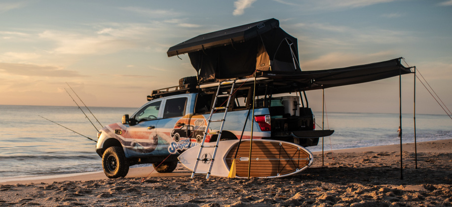 Nissan Titan Surfcamp is a beach house on wheels