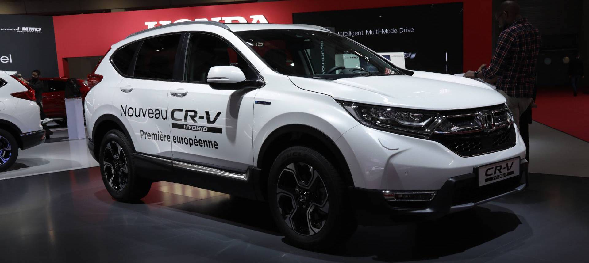 Production-Ready Honda CR-V Hybrid Arrives At Paris Motor Show