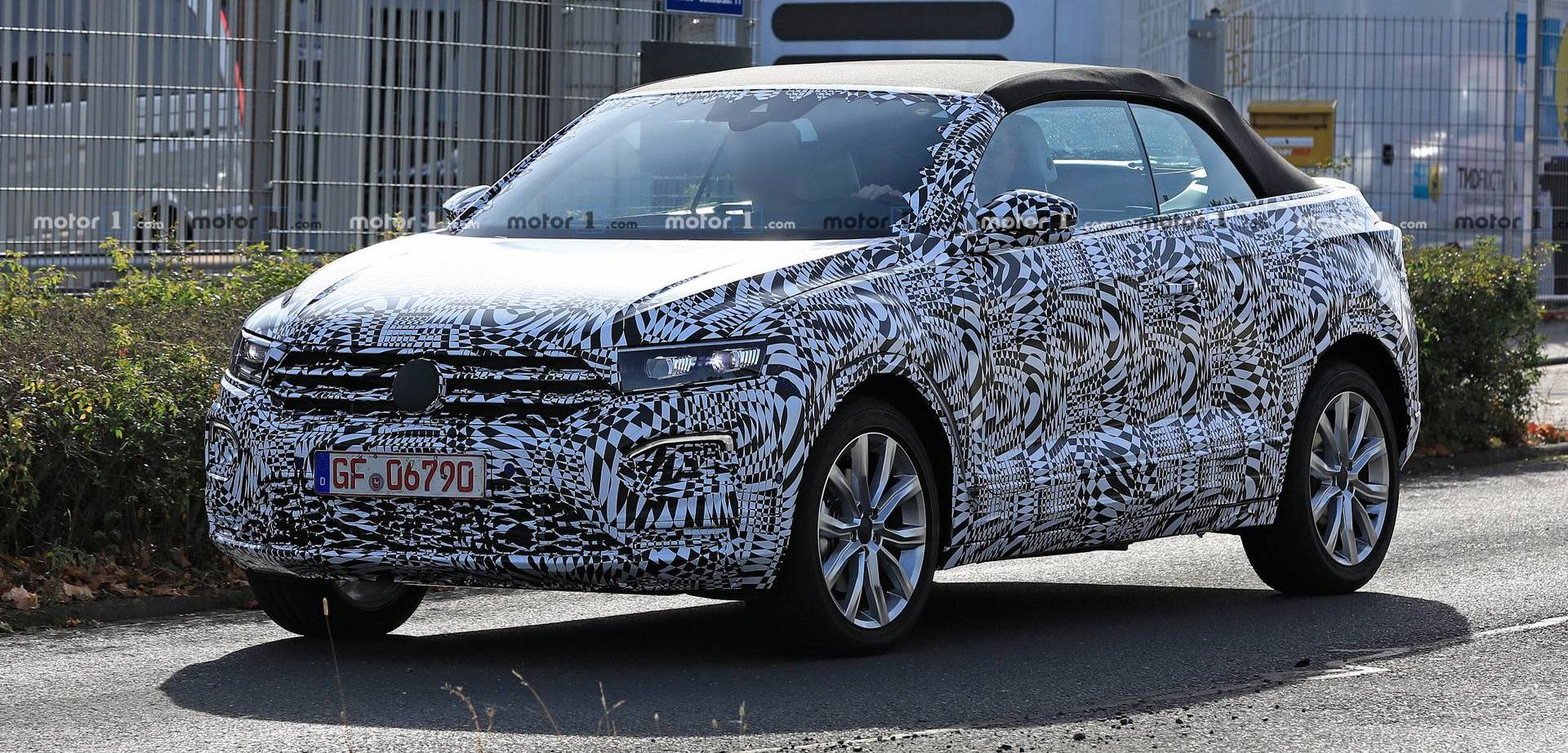 2020 VW T-Roc Convertible Spied For The First Time