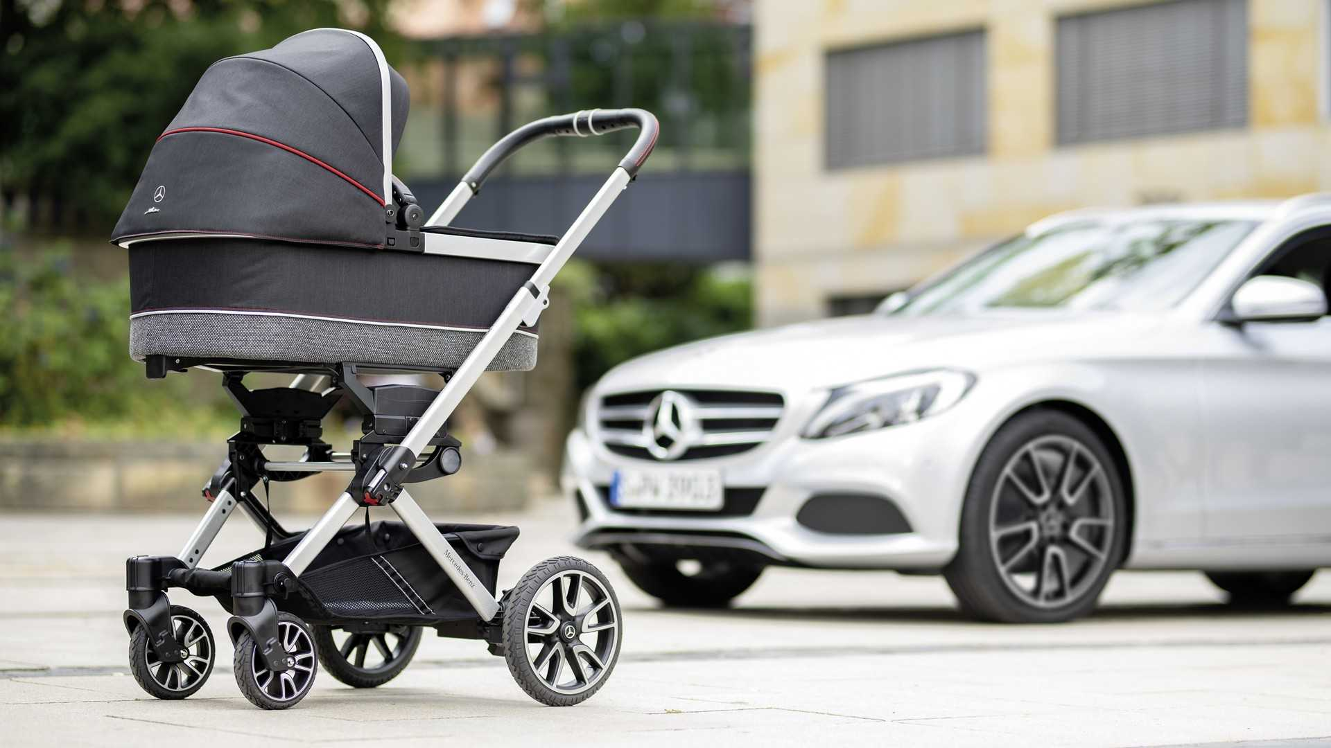 The Mercedes Of Baby Strollers Rides On C-Class AMG Wheels