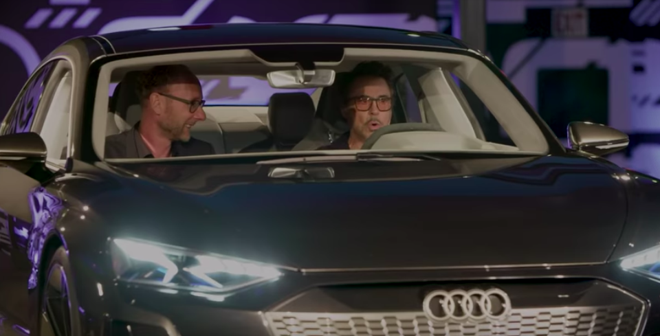 Robert Downey Jr. Geeks Out On First Drive Of Audi e-Tron GT