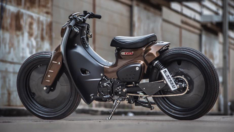 Honda Super Cub gets tuned into a super-cool cafe racer