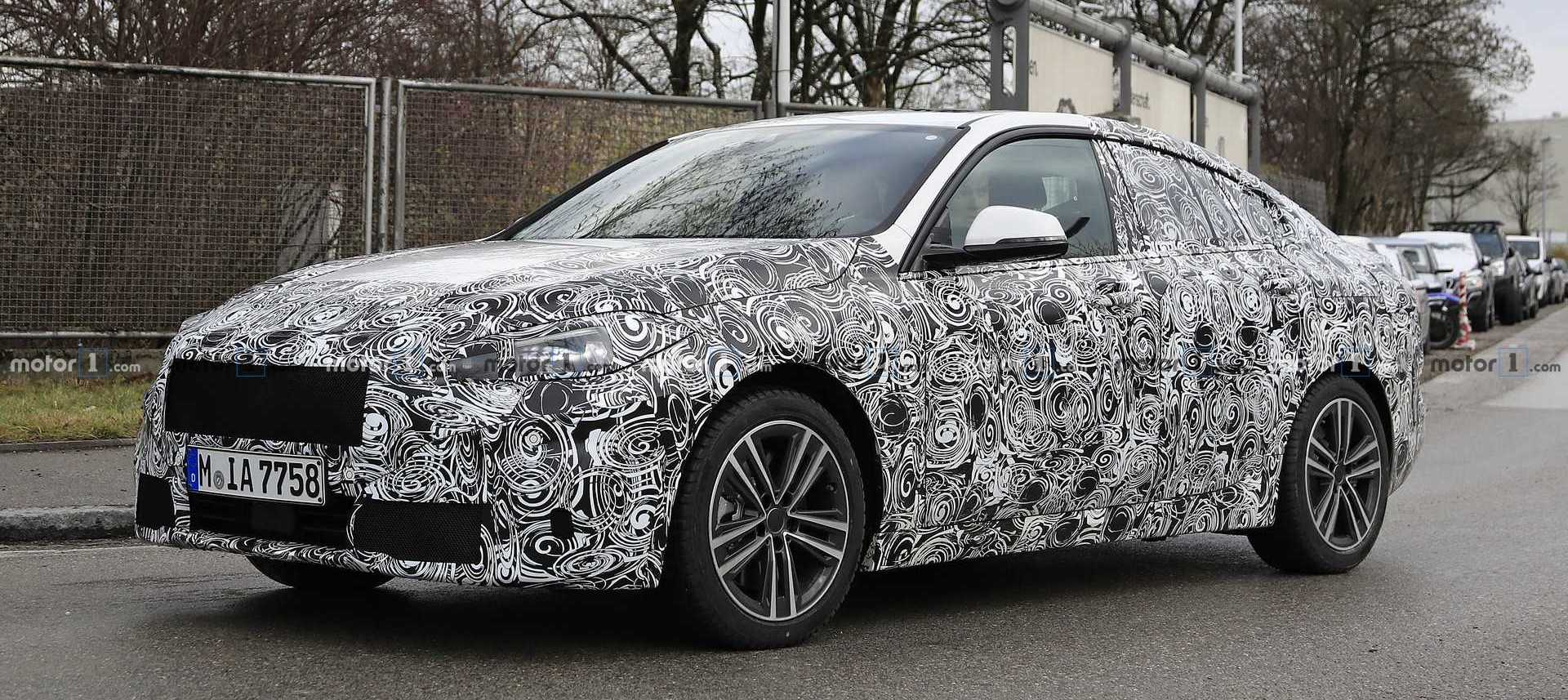 BMW 2 Series Gran Coupe 'Experimental Vehicle' Spied
