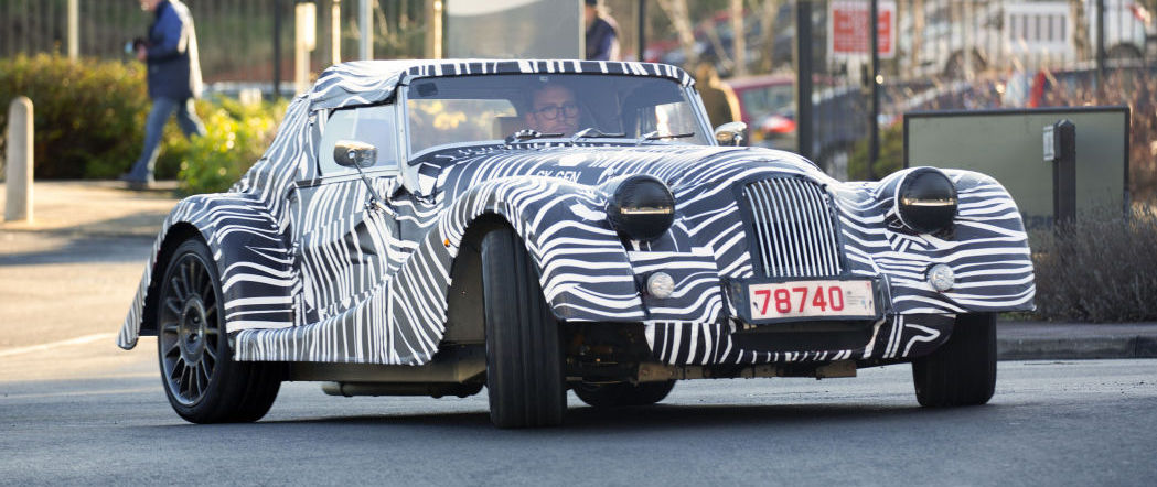 Morgan is testing an all-new sports car that looks like its old sports cars