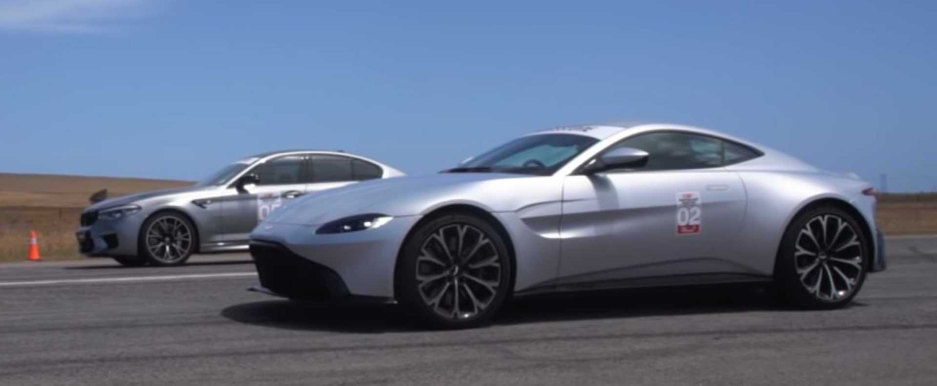 BMW M5 Competition Smokes Aston Martin Vantage In Drag Race