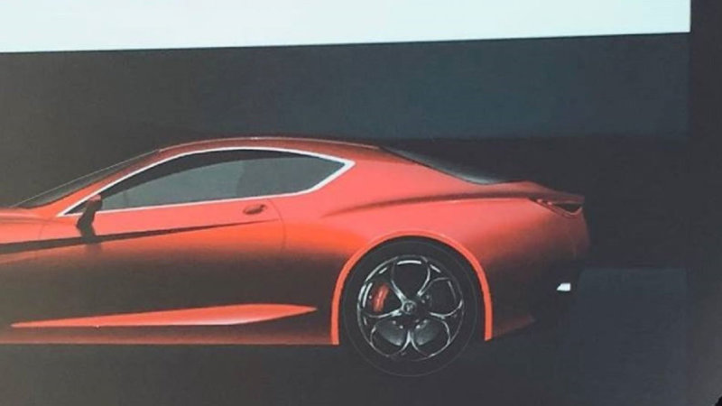 2022 Alfa Romeo GTV leaked image shows high performance coupe
