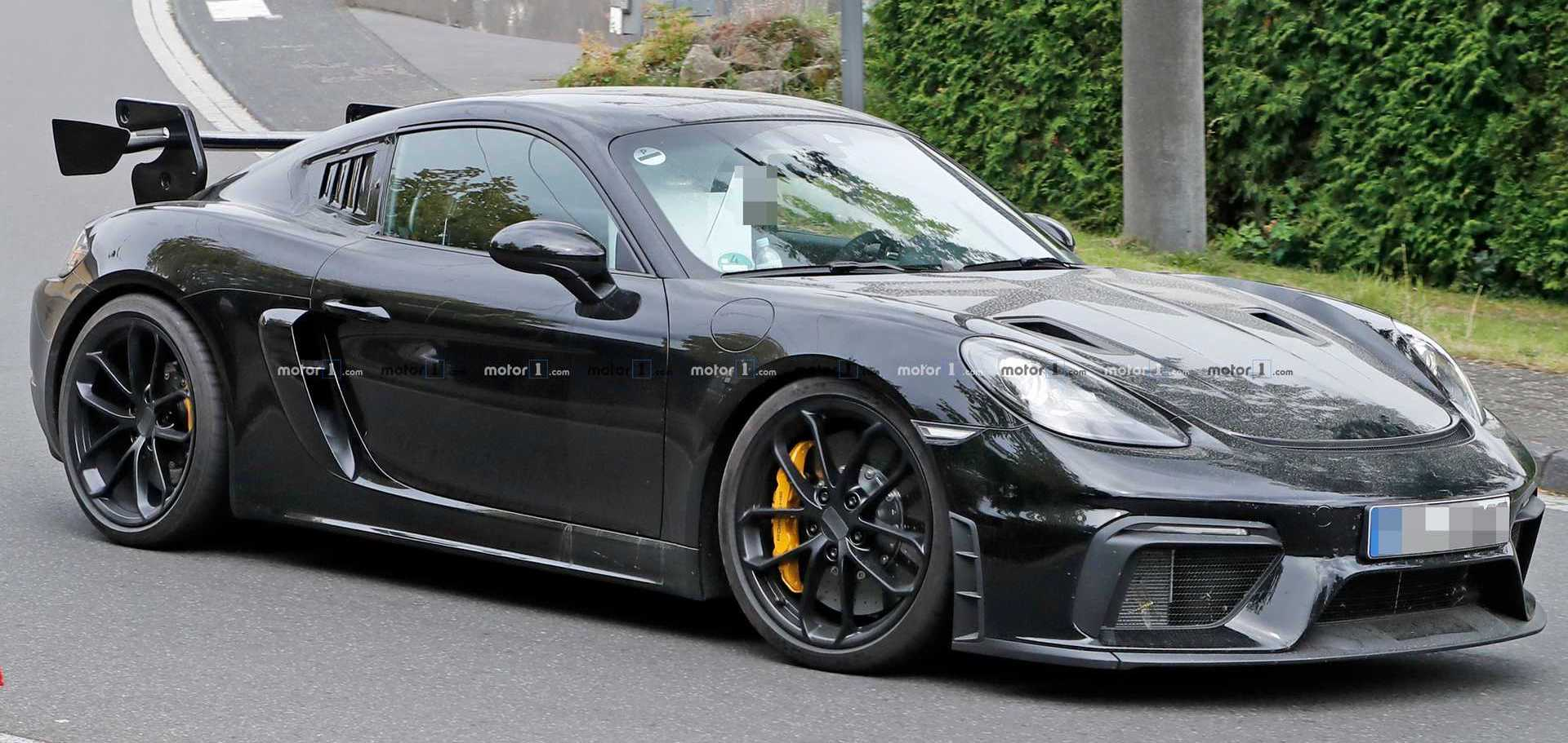Porsche 718 Cayman GT4 RS Potentially Spied Testing At The 'Ring