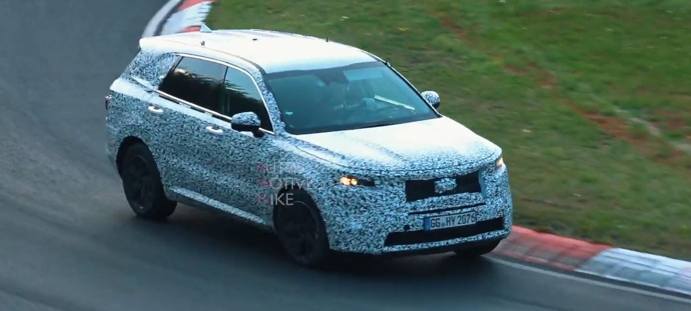 2021 Kia Sorento Spied Testing at the Nurburgring Again, Corners Pretty Flat