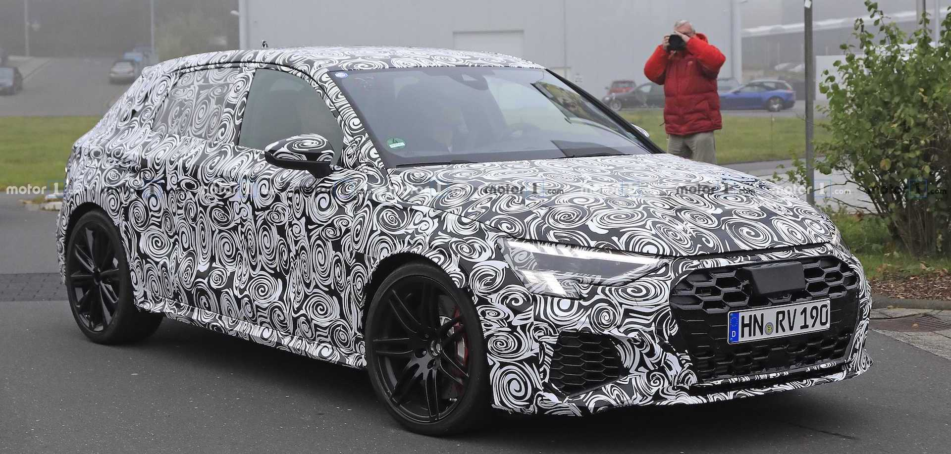 Next-Gen Audi RS 3 Sportback Spied In All Of Its Camouflaged Glory