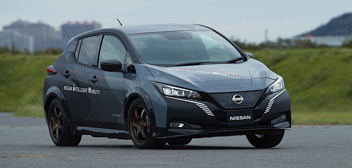 Twin-Motor, 304 HP Test Drivetrain Unleashes the Nissan Leaf Demons