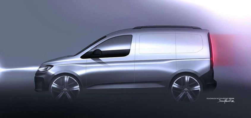 2020 Volkswagen Caddy Teaser Shows Off Stylish, Little Van