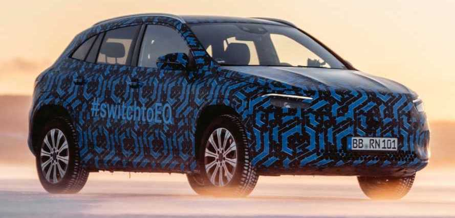 2021 Mercedes EQA Teased With Thinly Camouflaged Prototype