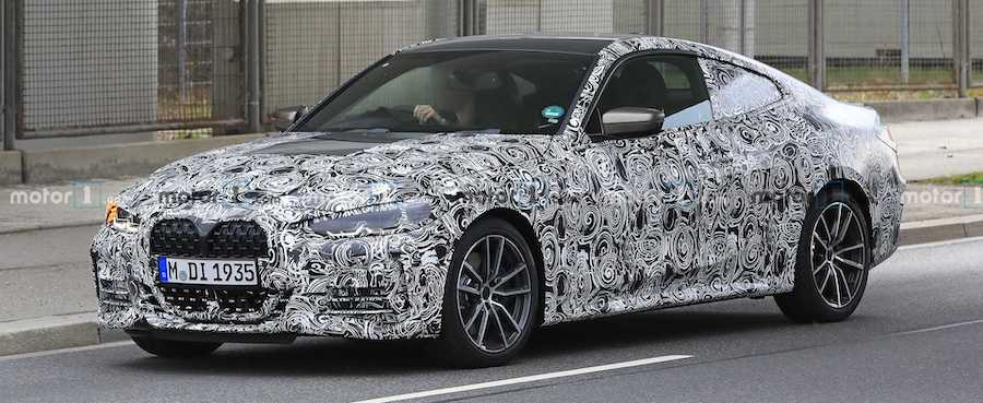BMW's Mighty New Grille Spied With 4 Series Coupe Attached To It