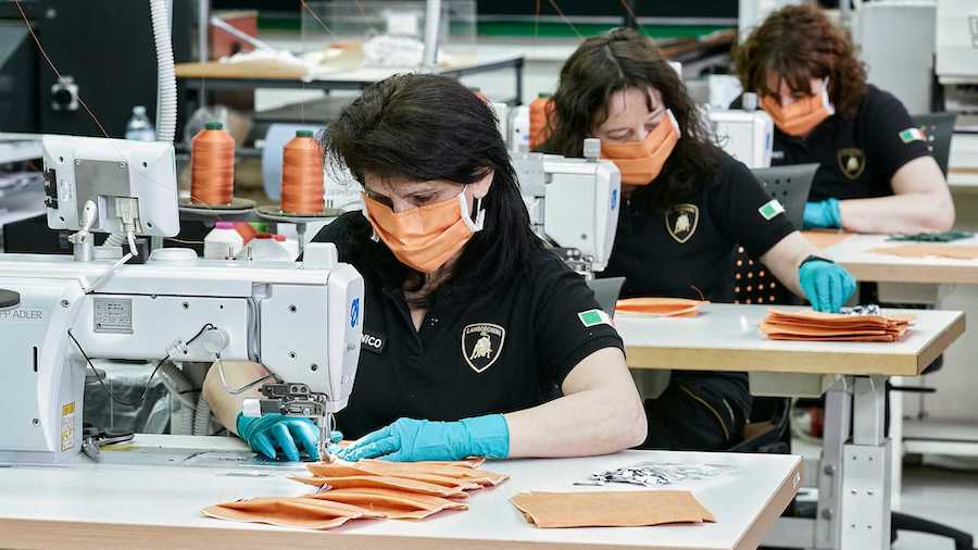 Lamborghini Now Fights the Coronavirus by Making Surgical Masks, Medical Shields