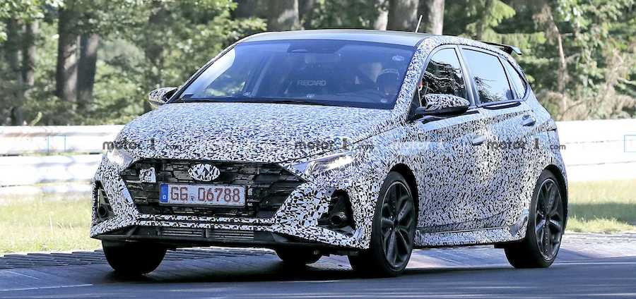 Hyundai i20 N Spied Again At Nurburgring As It Sheds Some Camo