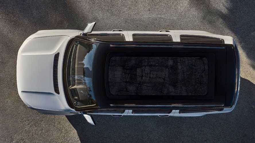 Jeep Grand Wagoneer Teased Again Showing Massive Mapped Glass Roof