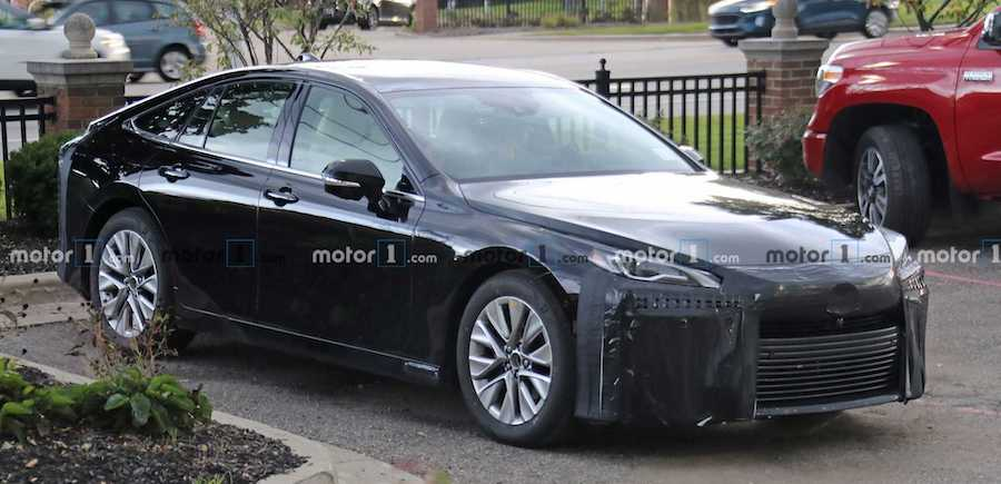 New Toyota Mirai fuel cell vehicle spotted in production form