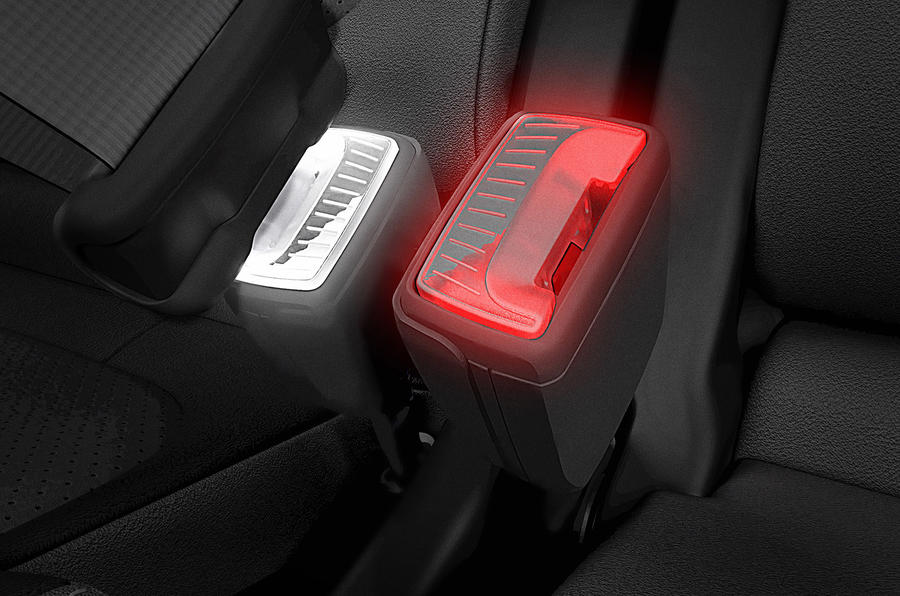 Skoda patents LED seatbelt buckle to improve usability at night